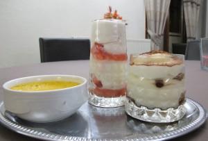 Tiramisu et Crème brulée
